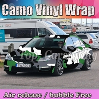 Зеленый Черный, серый цвет белый большой камуфляж виниловые наклейки Foile Wrap Лист с пузырем бесплатно для Грузовик Авто стикер тела