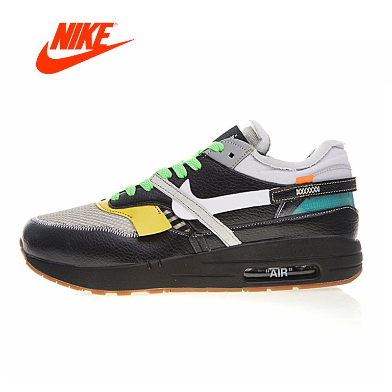 Original New Arrival Authentic Nike Air Max 90 x Off-White OW Men's Comfortable Running Shoes Sport Outdoor Sneakers AA7293-001