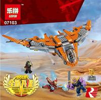 Lepin 07103 755pcs Super Heroes Avengers Infinity War Thanos Ultimate Battle Building Blocks Toys Compatible With