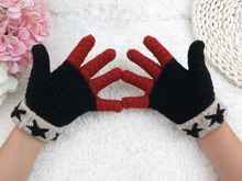 GLV887 wholesale new knitting fingers Winter outdoor children warm cartoon font b gloves b font