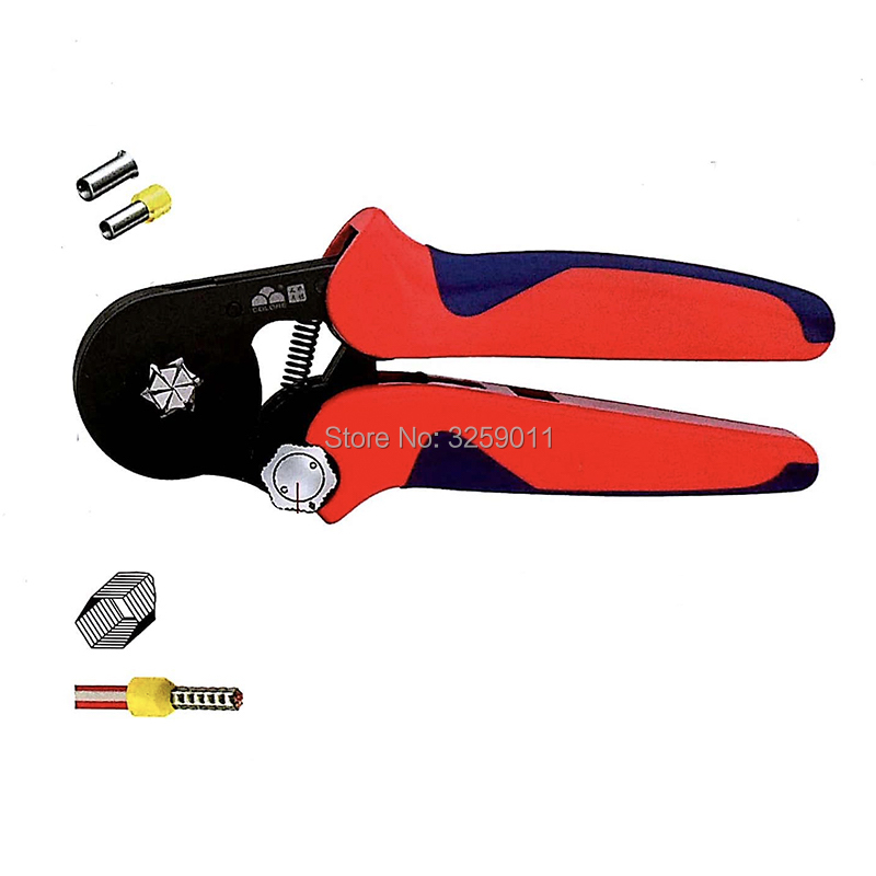 3PCS HSC9 10-6A 23-7 AWG Suyep Mini-Type Self-Adjustable Crimping Plier fits all ferrules within the application range 1pcs hsc8 16 4 11 5 awg suyep mini type self adjustable crimping plier application for tubular bare terminals and pre insulated