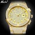 Роскошные часы для мужчин  роскошные брендовые золотые наручные часы с бриллиантом  мужские наручные часы золотого цвета  водонепроницаемы...