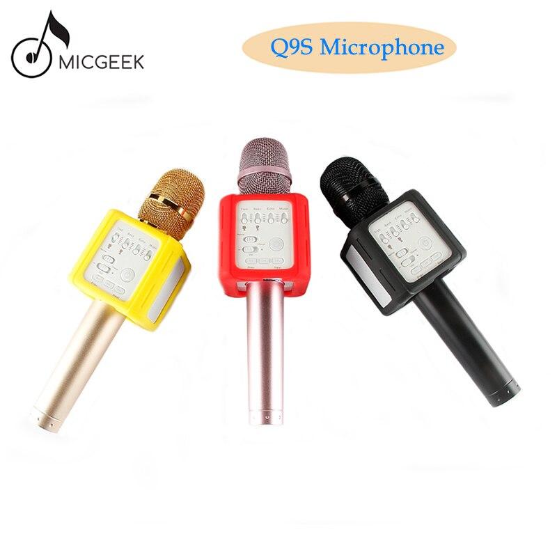 Microphone karaoké Bluetooth magique de marque originale Q9s haut-parleur de lecteur professionnel sans fil avec étui pour iphone xiaomi