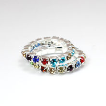 Resizable Ring Elastic 925 Stering Silver Rainbow Ring CZ Crystal toe ring 3mm(China)