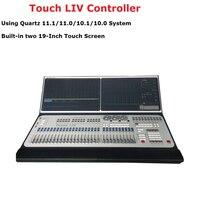 Двойной Сенсорный экран этап светооборудование touch LIV 11,1 Системы контроллер по протоколу DMX консоли Управление светодиодный Par перемещение