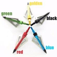 Bán buôn 300 PCS Săn bắn mũi tên đầu 100 hạt broadhead Archery thép không gỉ 3 năm lưỡi màu sắc có thể để được lựa chọn
