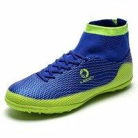 Adult Indoor Football Shoes 2017 Kids Futsal Shoes For Sock Football Boots Boys TF Turf Soccer
