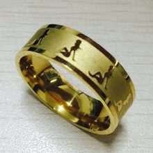 European Fashion 8mm sexy girls Rings gold color 316L Titanium Steel solid beauty ring women men alliance(China)