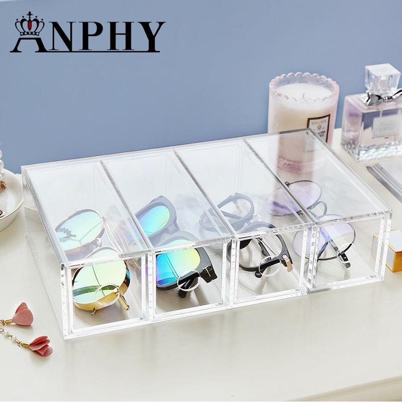 Transparent Clear Acrylic Organizer Holder Cotton swab box Makeup Eye box desktop Organizer Jewelry Case for Cosmetics C224