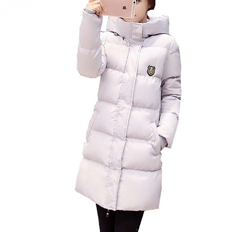Casual Overcoat winter jacket women slim real fur collar thickening coat hooded medium-long duck down parka plus size outwear 2016 new long down jacket for women winter coat parka solid coat fur collar woman casual plus size fashion slim casacos feminino
