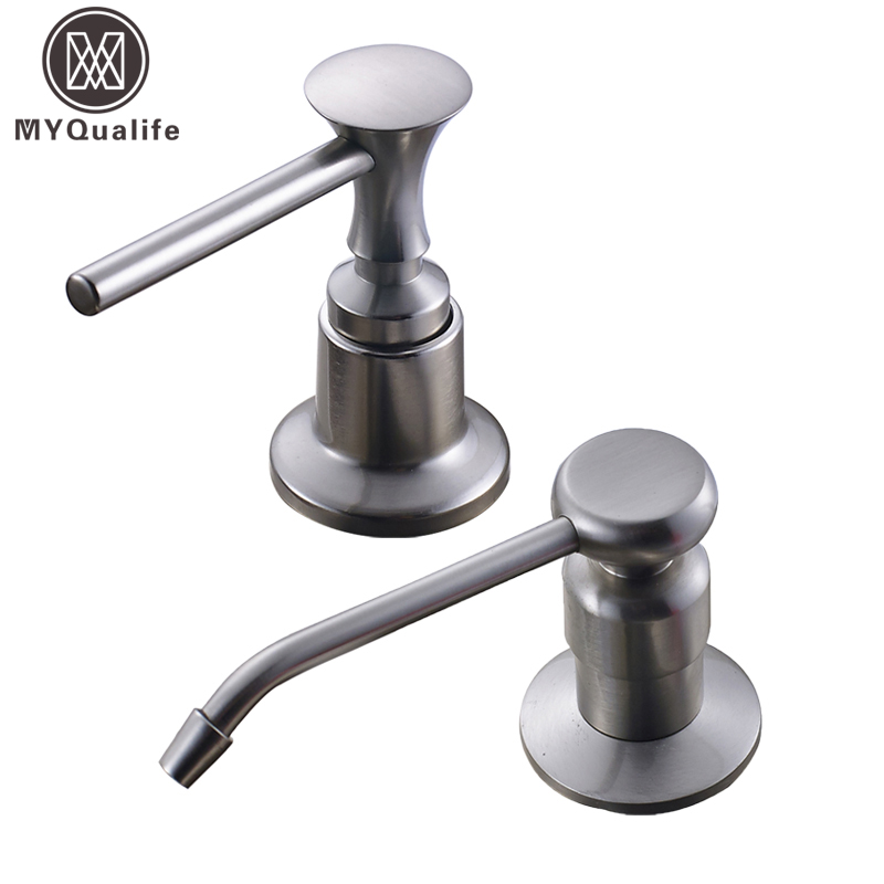 kitchen sink dispenser brushed nickel kitchen sink soap dispenser stainless steel 2671