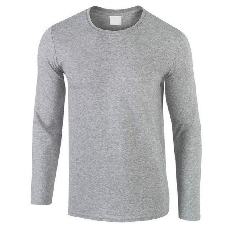2018 herbst Neue 100% Baumwolle T SHIRT Männer, ultra Niedrigen Preis Lange Ärmeln Männer tshirt Hochwertige Oansatz Reine Farbe Liebhaber T-shirt