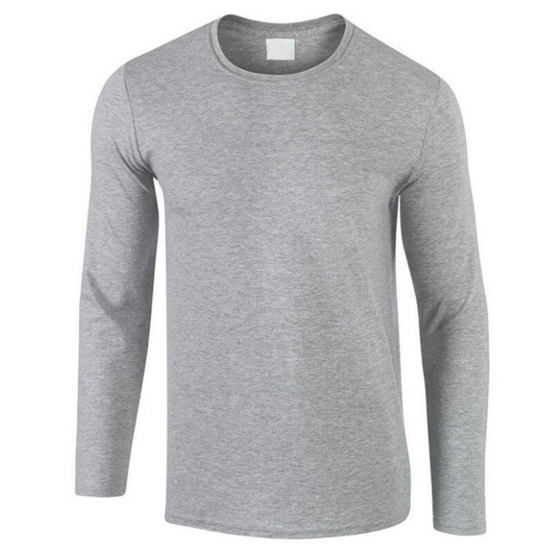 2018 nuevo Otoño de algodón 100% T, camisa de los hombres ultra bajo precio de manga larga Camiseta de los hombres de alta calidad o-Cuello Color puro amantes camiseta