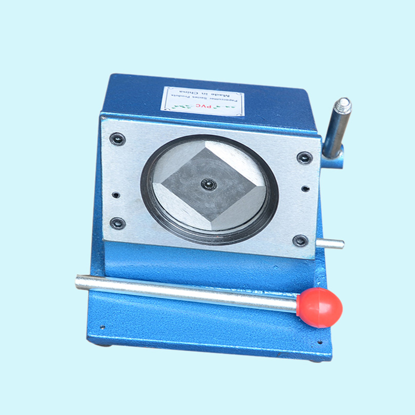 ФОТО Circle Cutter Round Shape Cutting Machine for 58mm Diameter Badge Botton Making Badge Machine Press
