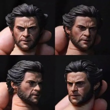 ELEVEN 1/6 Scale Wolverine Logan Head Sculpt with Cigar Young Hugh Jackman X-men Carving for 12inch Phicen HOT TOY Doll