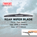 "Rear Wiper Blade for Opel Astra J (2010-now) 1pc 12"" 300mm,Car Rear Windscreen Wipers,Back Windshield Wiper Blades Vauxhall"