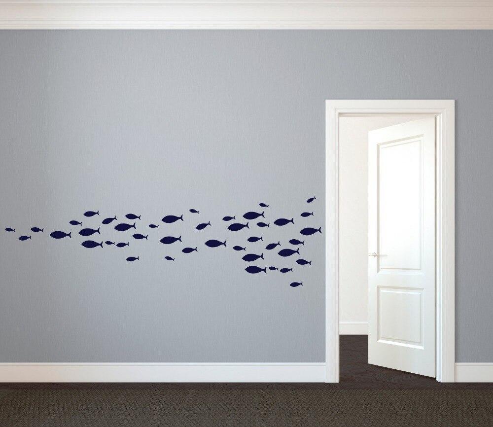 60 Pcs 4 Ukuran Kustom Pembibitan Ikan Bawah Laut Dinding Stiker Vinil Kualitas Bagus Seni Untuk Rumah Jendela Kamar Mandi Dekorasi Interior Kapal Gratis