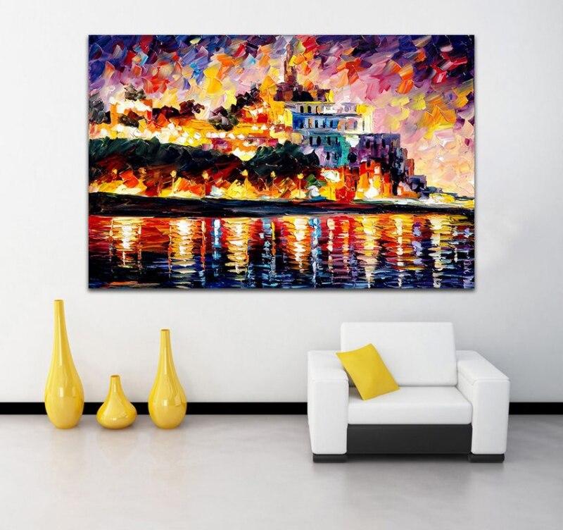 moderno pintado a mano de color de la paleta de pintura occidental arte