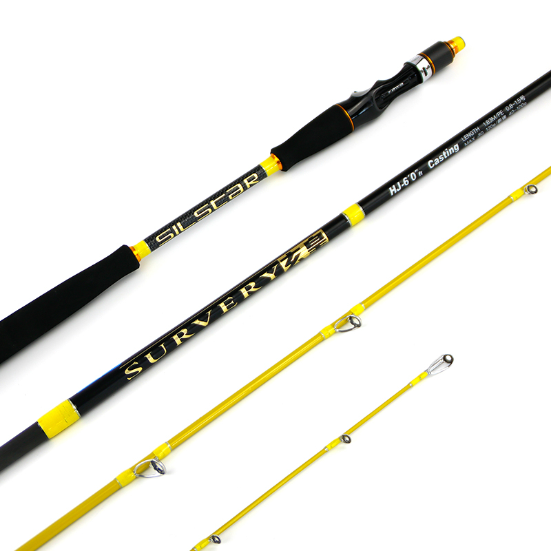 High quality portable 1 pcs/Lot carbon material 1.8 m lure rod raft/boat rod spinning rod