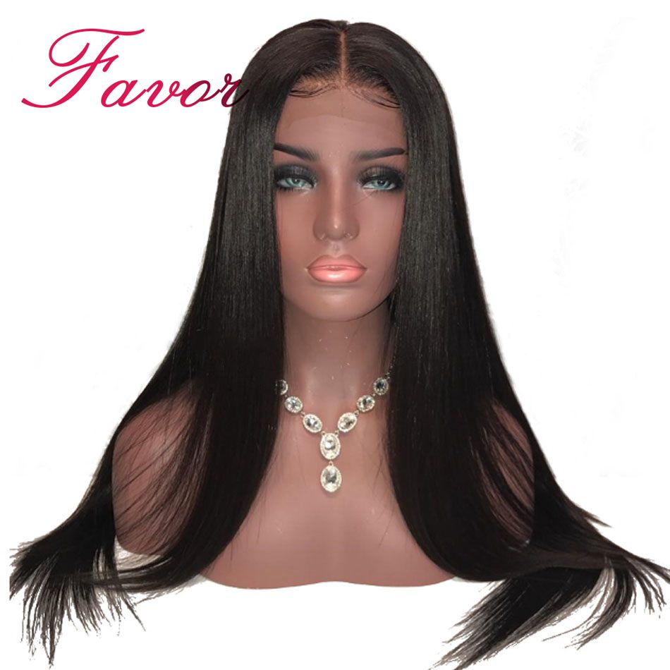Peruvian Remy Human Hair Wigs Glueless Straight Full Lace Wigs With Baby Hair For Black Women
