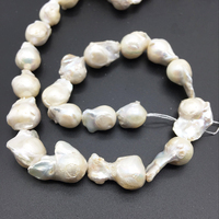 Baroque style pear special shape Edison natural pearl diy jewelry making big grain mother and son pearl beads 15-24mm 39cm P023