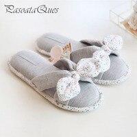 New Spring Summer Flip Flops Women Slippers Cotton Indoor House Home Bedroom Women Shoes Pasoataques Brand