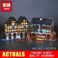 Новый Лепин 16011 1601 шт. средневековой Рынок село здания Blcoks кирпичи игрушки модель 10193