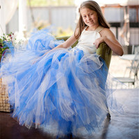 2 13Y Hot Sale Elegant Tulle Dress Satin Corset Bodice Baby Girl Tutu Dress Kids Prom