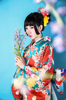 Japanese Kimono Vibrating Sleeves Dress Suit Two foot Sleeve Kimono