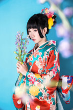 цены Japanese Kimono Vibrating Sleeves Dress Suit Two-foot Sleeve Kimono