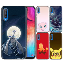 Black Silicone Soft Case Bag Cover for Samsung Galaxy A7 2018 A10 A20 A30 A40 A50 A60 A70 A20E Note 10 M40 Coque Capa Pokemons(China)