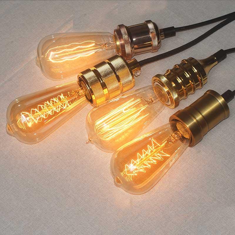 Retro Edison Gloeilamp E27 220 V 40 W ST64 G95 Lamp Vintage Gloeilamp - Binnenverlichting - Foto 4