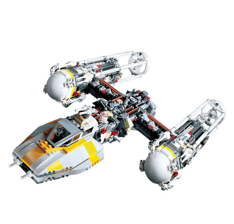 05040 1743Pcs Y-wing Attack Starfighter Mobile Building Block Bricks Compatible With 10134 lepin 05040 y attack starfighter wing building block assembled brick star series war toys compatible with 10134 educational gift
