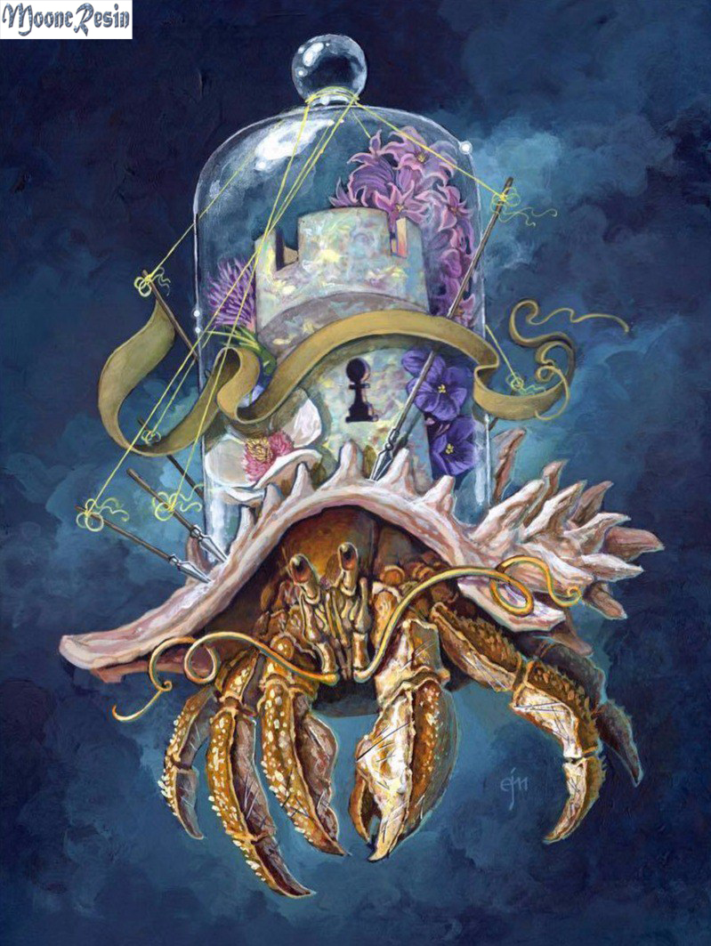 MOONCRESIN 5D Diamond Mosaic Interstellar Octopus Embroidery Needlework Diy Painting Cross Stitch Decoration Kit