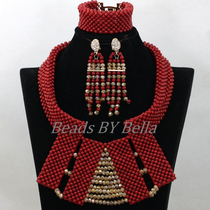 2017 Chunky Natural Red Coral Beads Jewelry Sets Gold African Nigerian Wedding Bridal Beads Necklaces Set Free Shipping ABK7762017 Chunky Natural Red Coral Beads Jewelry Sets Gold African Nigerian Wedding Bridal Beads Necklaces Set Free Shipping ABK776
