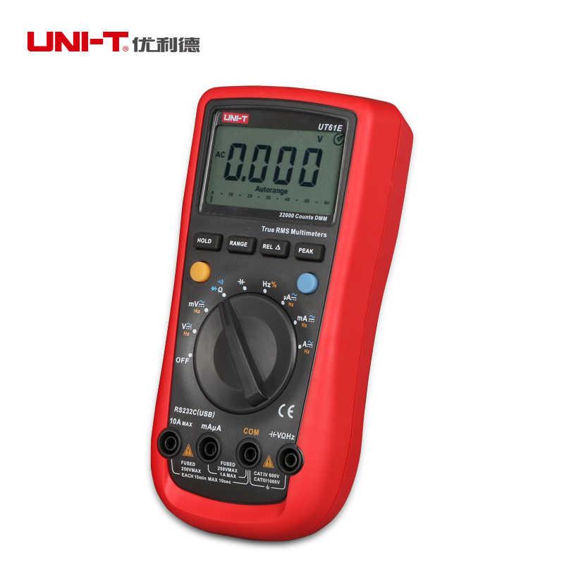 기존 UNI-T 디지털 다기능 멀티 미터 ac dc 전압 전류 미터 저항 커패시턴스 hfe 주파수 게이지 데이터 홀드
