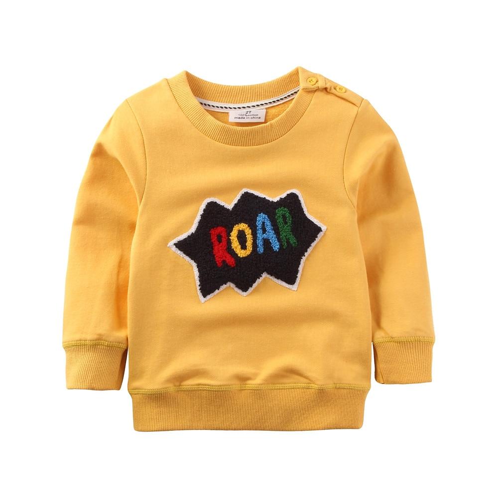 3973f74243545 Jumpingbaby 2019 Yeni Çocuk Erkek T shirt Kazak Hoodies Çocuklar Elbise  Bebek Uzun Kollu t-shirt Tshirt Todder Mont