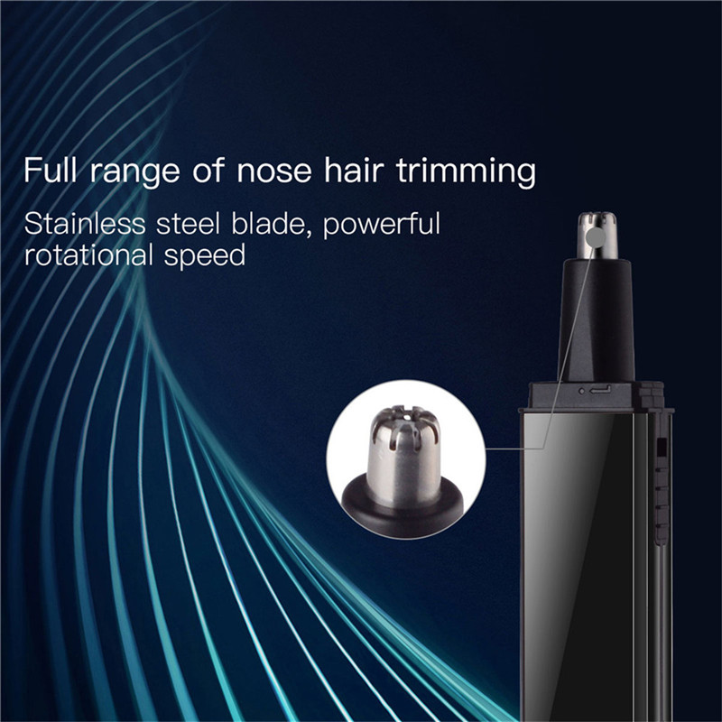 CkeyiN Multi USB Rechargeable Nose Ear Hair Trimmer Portable Hair Removal Shaver Eyebrow Trimer Safe Lasting Face Care Tool Kit