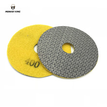 3 inch 4 5 80mm 100mm 125mm  Electroplated Diamond Polishing Pad Glass Concrete Stone Wet Dry Sandpaper