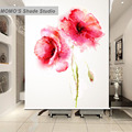MOMO Blackout Flower Window Curtains Roller Shades Blinds Thermal Insulated Fabric Custom Size, Alice 502