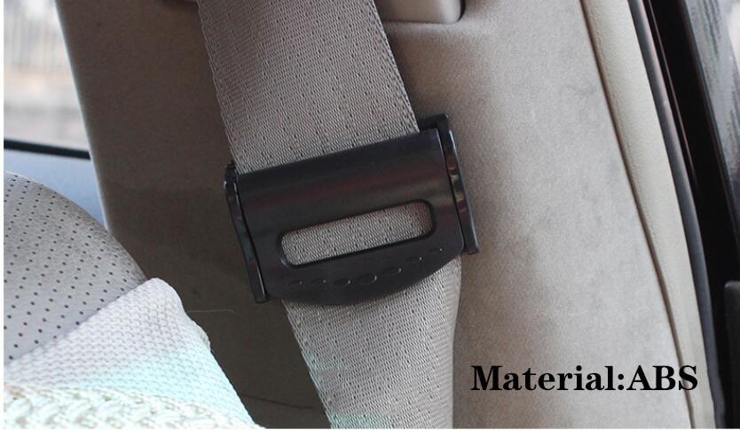 2 шт./компл. автомобильного ремня безопасности, Зажимы Пряжка ремня безопасности фиксаторы уход за кожей лица маска клипсы для ношения на поясе для Ford VW Audi автомобилей синий и красный цвета серебристый, черный - Название цвета: Black