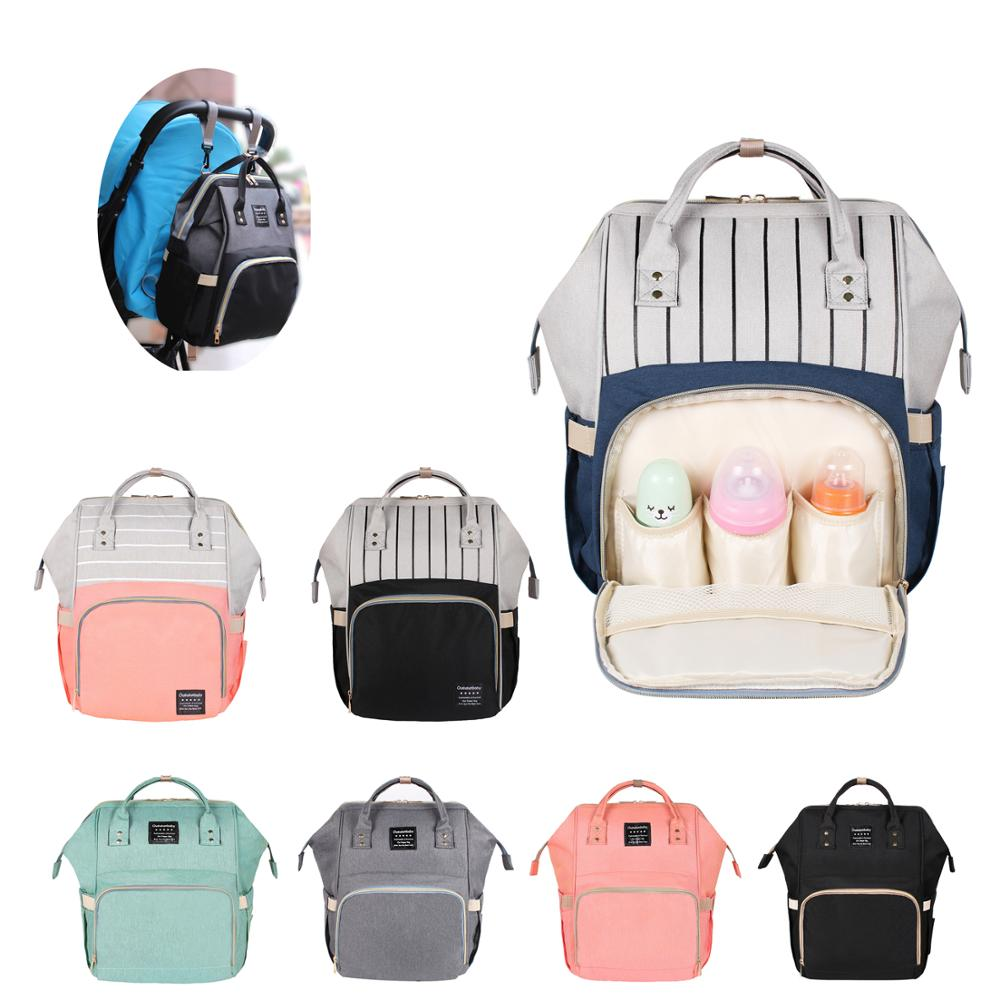 Large Capacity Mommy Maternity Bag Diaper Nappy Bag Bolsa Maternida Printed Bebe Bag Travel Backpack Desiger Nursing Baby Care(China)