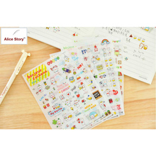 Alice Story High Quality Stickers Scrapbooking Cute Little Pig Bonjour Cochonn PVC Dairy Notebook Planner Stickers Hot Sale