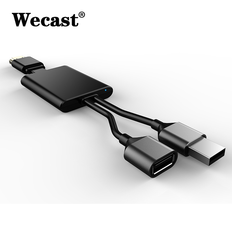 hot sale online 9bc01 a16be US $21.41  Wecast new RK3036 wired TV stick I8 no delay miracast airplay  for iPhone 8 8 plus X android smartphone HDMI dongle 1080P display-in TV ...