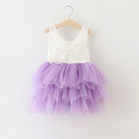 2017 Girls lace tutu dress, princess dress , summer dress girl , 5pcs/lot FCL28