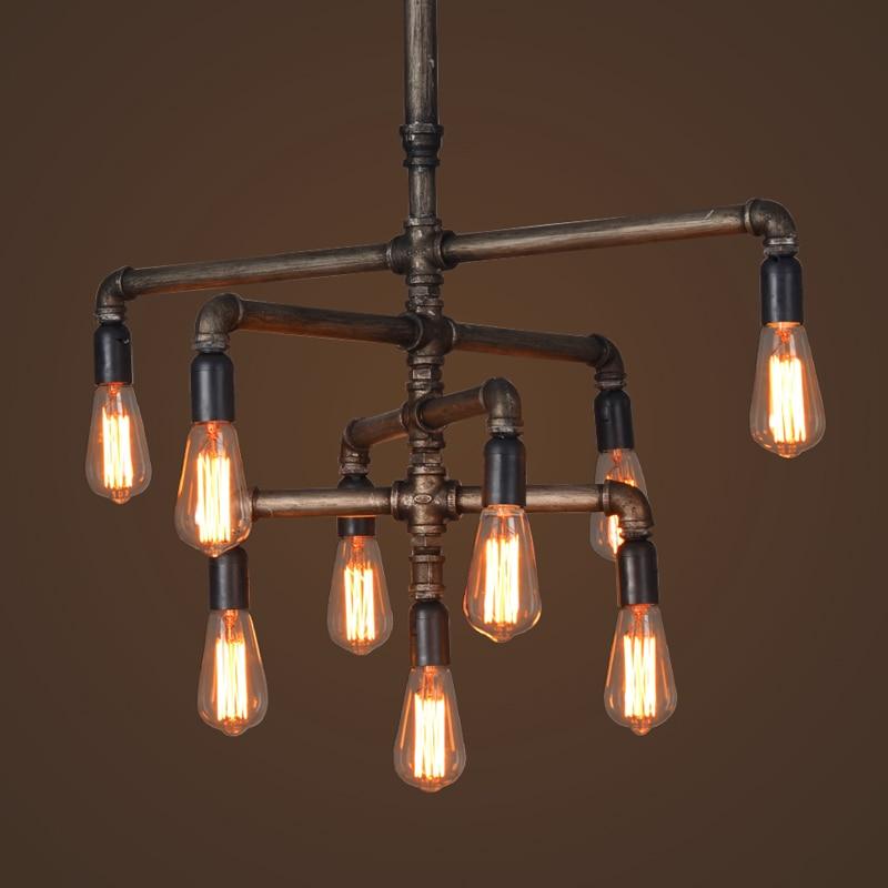 Edison Light Bulb Vintage Silk Industry Pipe Chandelier Creative Restaurant Cafe Bar Table Lamps Lighting In Pendant Lights From On