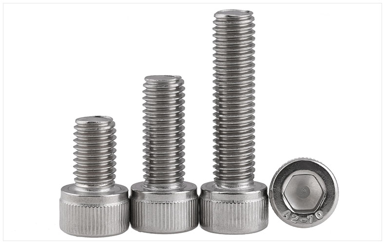 DIN912 304 stainless steel bolts high strength hex socket screws M6 M8 M10 M12 screws twill cylindrical head bolts din933 12 9 carbon steel screws high strength bolts m6 m8 m10 m12 screws external hex screws 12 9 bolt