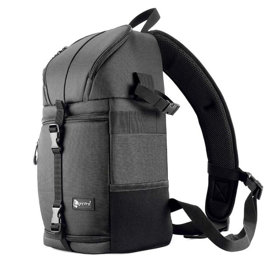 Cámara fotográfica Sling hombro Cruz Digital impermeable w/lluvia cubierta DSLR suave hombres mujeres bolsa para Canon nikon Sony SLR