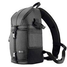 Fotoğraf kamera Sling çanta omuz çapraz dijital kasa su geçirmez w/yağmur kapağı DSLR yumuşak erkek kadın çantası Canon nikon Sony SLR