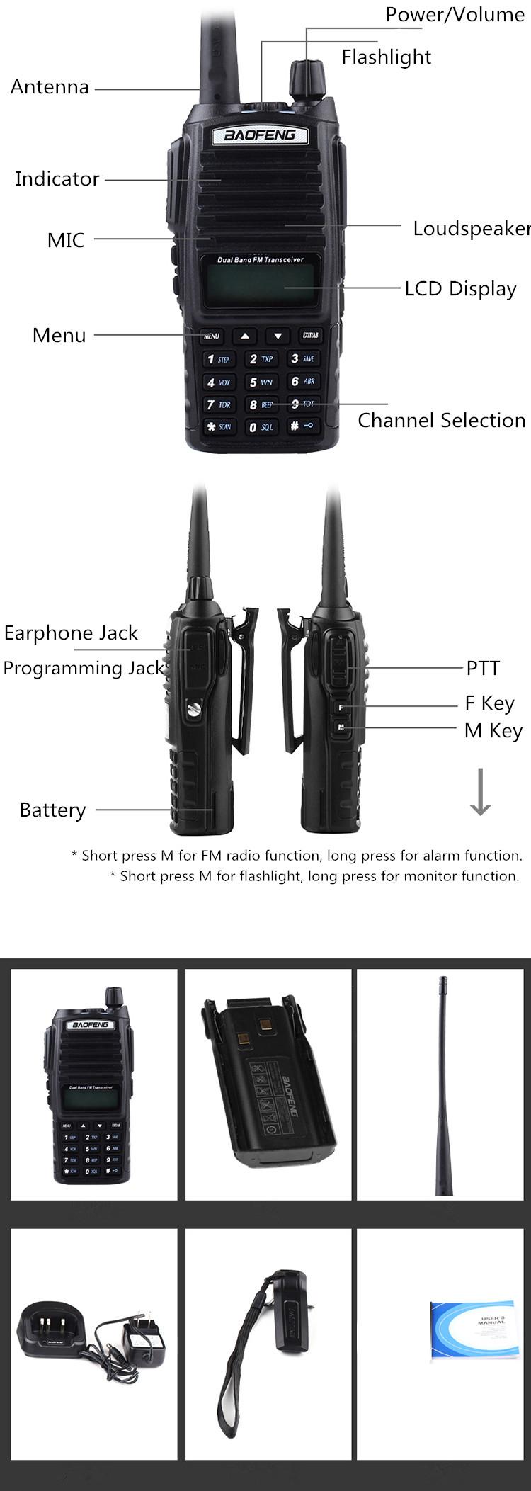Оригинальные 5 Вт Baofeng УФ 82 рации портативные двухдиапазонный УКВ 136-174 МГц 400-520 МГц 8 Вт Baofeng УФ-82 UV82 82 любительское радио Баофэн УФ-5R